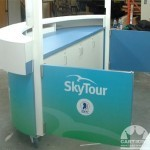 Side View of the Information Kiosk Cart