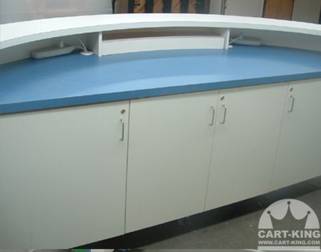Information Kiosk Cart with Built in Locking Storage