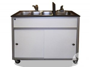 Food Cart with Self Contained Sink from Cart-King