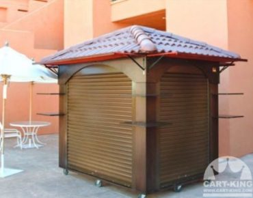 terracotta roof retail display cart with wheels