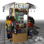 The Perfect Retail Display Cart for Sports Apparel or Souvenirs
