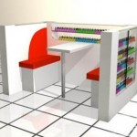 the Cart-King Mini Manicure Kiosk