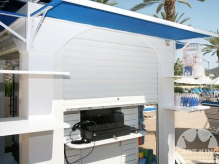Retail Kiosk with Security Shutters