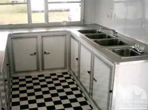 Inside Our Concession Trailer with Sinks Storage and More