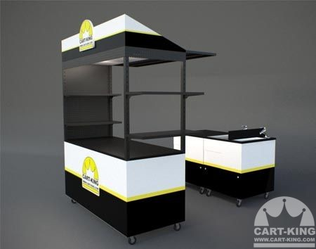Portable Food Cart with Sink