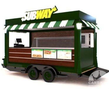 Subway Branded Mobile Food Trailer
