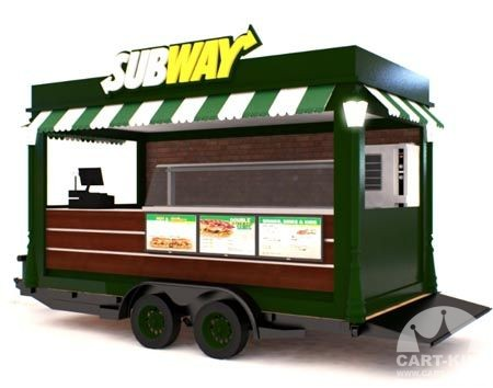 Subway Branded Mobile Food Trailer
