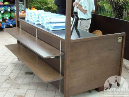 Poolside Retail Collection Booth with Front Shelves