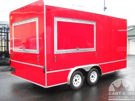 Mobile Concession Trailer With Security Locks From Cart King