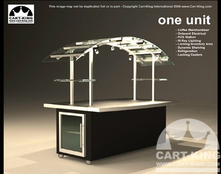 high end coffe kiosk
