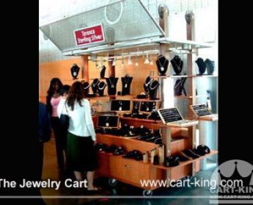 Mall or Plaza Retail Jewelry Display Cart