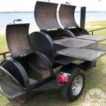 BBQ Pit and Smoker Trailer Open View
