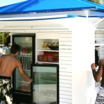Outdoor food concession stand