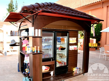 Food Concession Cart With Terracata Roof