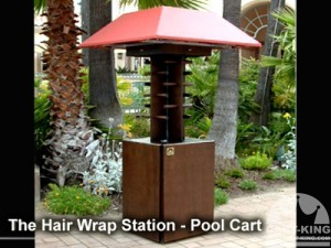 light duty outdoor hair wrap station - pool cart
