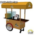mobile branded coffee cart from Cart-King