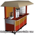 refrigerated self serve coffee cart with wheels