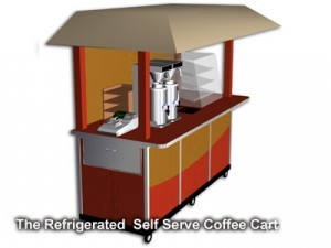 self contained coffee cart