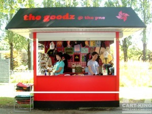 the Goodz Outdoor Kiosk Booth from Cart-King