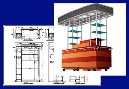 custom cart kiosk design phase