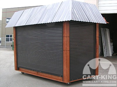 outdoor security kiosk from cart-king