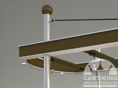 shopping mall retail cart canopy