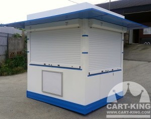 outdoor kiosk with menu white board
