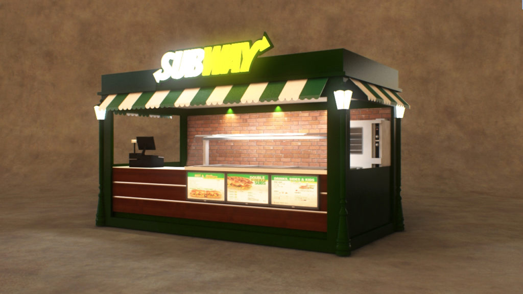 Fast Food Kiosk Custom Commercial Burger Amp Hot Dog Kiosks