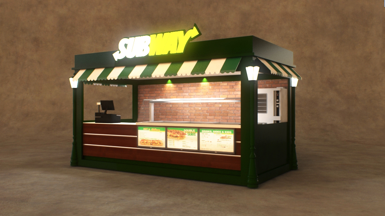 Fast food kiosk custom commercial burger hot dog kiosks for Mobili kios