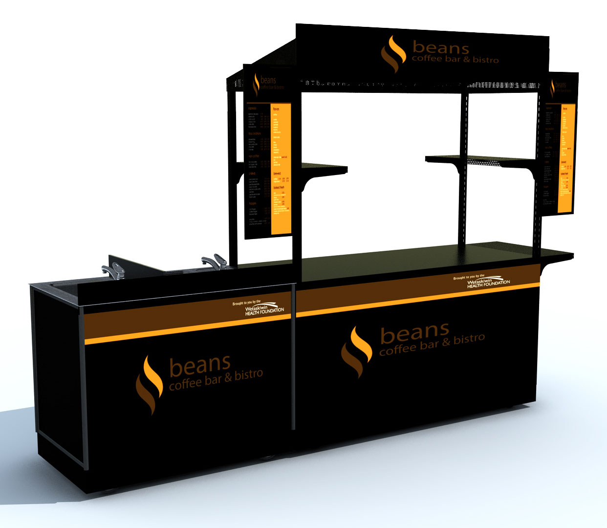 Mobile vending carts or kiosks custom design outdoor for Coffee cart design