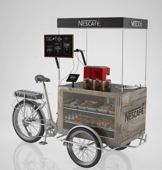 This Beautiful Coffee Bike Was Designed For Just About Any Beverage Service Or Purpose Unit Has Display Areas Multiple Configurations